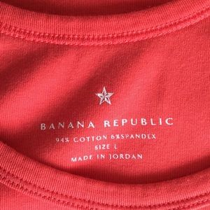 Banana Republic knit tank top, red love color, L